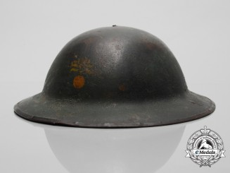 "A First War 87th Infantry Battalion ""Canadian Grenadiers Guards""  Helmet; Named"