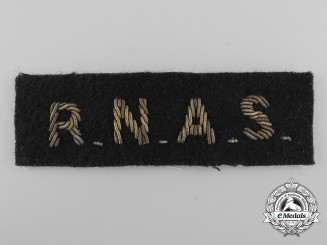 A Royal Naval Air Service (RNAS) Shoulder Flash