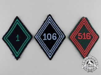 Three French Foreign Legion Patches