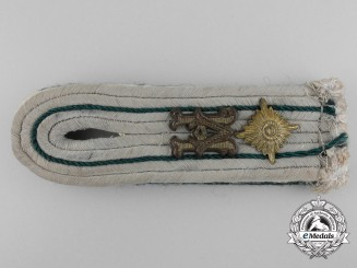 A German Army 1st Lieutenant Paymaster Official for the Duration of the War Administrative Branch Shoulder Board