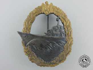 A Kriegsmarine Destroyer War Badge by Glaser & Söhne