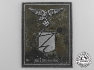 "A Luftwaffe 36th ""Lightning Bolt"" Bomber Wing Plaque"