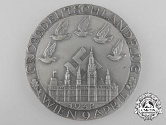 A 1938 Grossdeutschland Propaganda Medal by Deschler, Munich