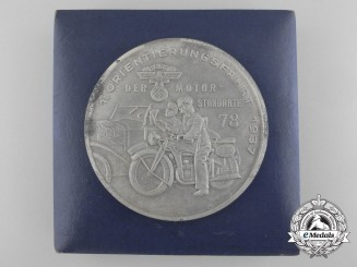 A 1937 NSKK 78th Regiment Motor Orientation Competition Medal with Case