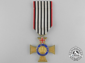 A Prussian Order of the Crown With Geneva Cross; Fourth Class