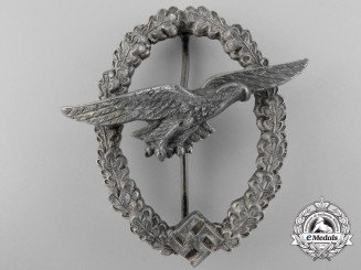A Rare Luftwaffe Glider Pilot's Badge by C.E. Juncker