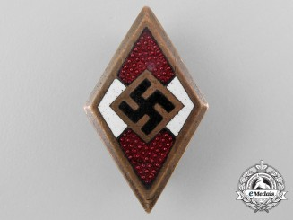 An HJ Golden Honour Badge by Wilhelm Deumer, Lüdenscheid