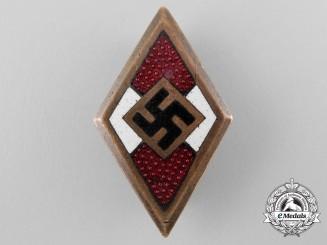 An HJ Golden Honour Badge by Wilhelm Deumer, Lüdenscheid
