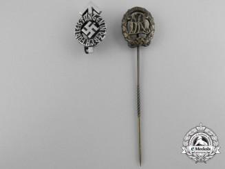 A DRL Sport Badge; Bronze Grade Stickpin by Wernstein