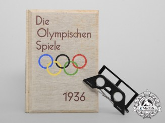 A 1936 Berlin Olympic Games Stereoscopic Book & Glasses