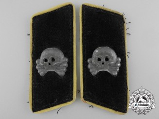 A Set of German Army Panzer Cavalry Enlisted Man's Collar Tabs