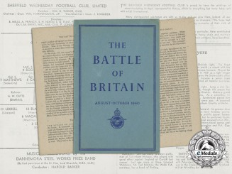 A 1940 RAF Battle of Britain Booklet & Football Match Programme