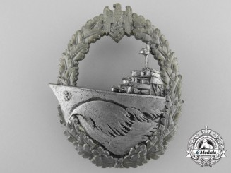 A Kriegsmarine Naval Destroyer War Badge