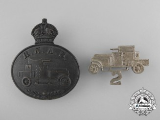 United Kingdom. Two First War Royal Naval Air Service Badges