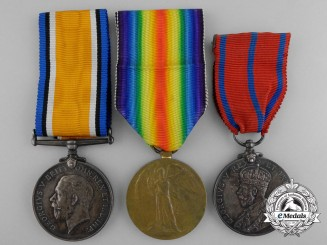 A Canadian First War & Scottish Police Medal Grouping; 116th Battalion