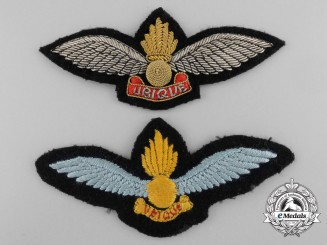 Two Air Observation Post Pilot's Wings