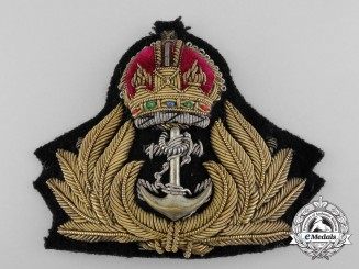 A Pre-Second World War Royal Canadian Navy (RCN) Officer's Cap Badge