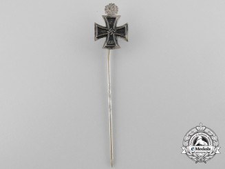 A Miniature Knights Cross with Oak Leaves Stickpin