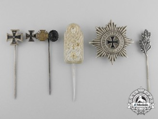 A Lot of Five First War German Imperial Stick Pins