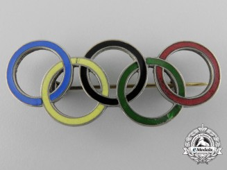 A 1936 Berlin German Olympic Games Rings Pin