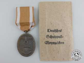 A West Wall Medal with Carl Poellath Packet