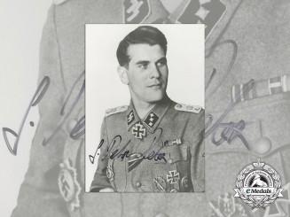 A Post War Photo & Signature of Unknown SS Officer; KC Winner