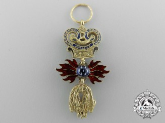 A Superb Miniature Austrian Order of the Golden Fleece in Gold