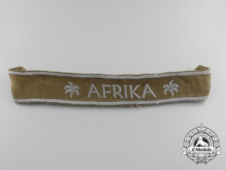 A Third Reich Period African Campaign Cuff Title; Uniform Removed