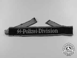 Germany. A Waffen SS-Polizei-Division Cufftitle