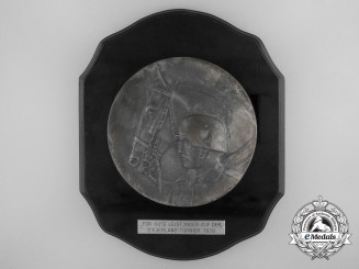 A 1939 Wehrmacht Calvary Tournament Award Plaque