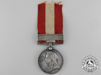 A Canada General Service Medal to Ridgeway Veteran; Colour Sergeant Robert Bain