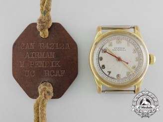 A Second War Royal Canadian Air Force (RCAF) Rolex Watch Attributed to Airman M. Pendik