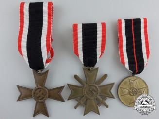 Three Second War German War Merit Awards