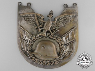 A German Frontline Fighters' Stahlhelm Standard Bearer's Gorget
