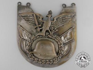 A German Frontline Fighters' Stahlhelm Standard Bearer's Gorget