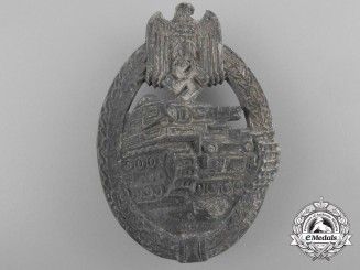 A Silver Grade Tank Badge by Arno Wallpach of Salzburg 1942