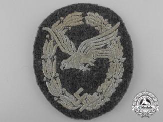 A Luftwaffe Air Gunner Badge; Cloth Version