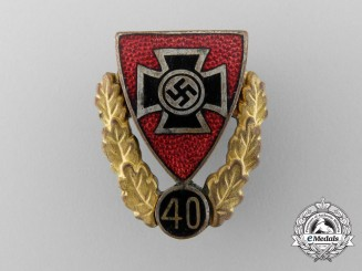A German Veterans Association Forty Year Membership Badge