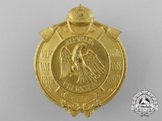 A 1925-30 Prussian Fire Brigade Long Service Award