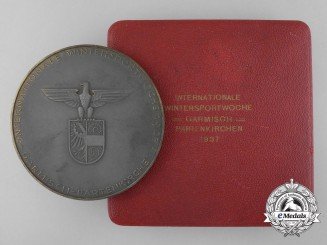 A 1937 International Winter Sports Week Award Table Medal