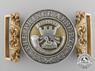 A Victorian Prince Albert's Regiment Officer's Buckle
