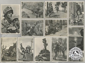 A Lot of Twelve Waffen-SS Picture Postcards