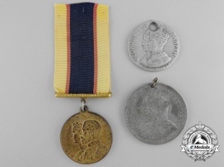 Three Canadian Commemorative Coronation Medals