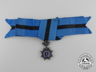 A Miniature Belgian Order of Leopold II; Type II