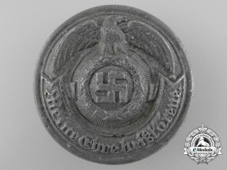 An SS Officer's Belt Buckle; Ground Recovered