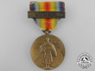 A First War American Victory Medal; Aviation Clasp
