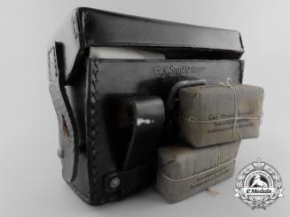 A German Stretcher-Bearer's Front Pouch with Bandages, Tourniquet, and Field Dressing