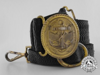 A Kriegsmarine Officer's Brocade Undress Belt with Buckle