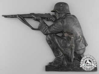 A Cast Wehrmacht Soldier Plaque