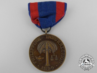 An 1899 American Philippine Insurrection Medal; Numbered